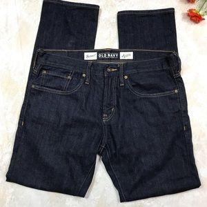 Old Navy Jeans - OLD NAVY DARK WASH MEN'S SKINNY JEANS SIZE 34